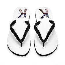 K Stars and Stripes Flip Flops