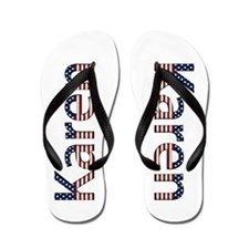 Karen Stars and Stripes Flip Flops