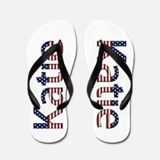 Katie Stars and Stripes Flip Flops