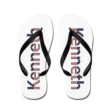Kenneth Stars and Stripes Flip Flops