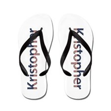 Kristopher Stars and Stripes Flip Flops