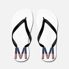 M Stars and Stripes Flip Flops