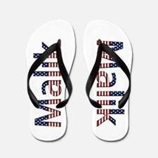 Malik Stars and Stripes Flip Flops