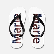 Marie Stars and Stripes Flip Flops