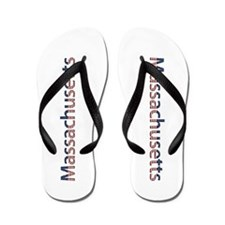 Massachusetts Stars and Stripes Flip Flops