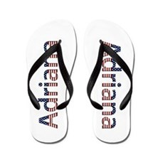 Adriana Stars and Stripes Flip Flops
