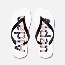 Aidan Stars and Stripes Flip Flops