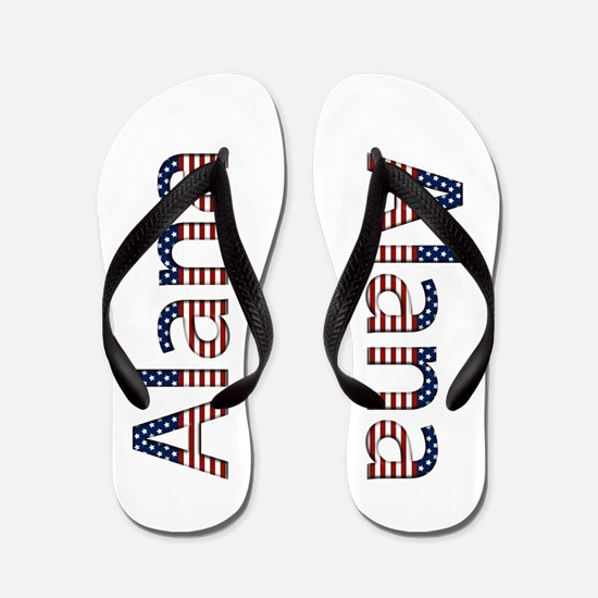 Alana Stars and Stripes Flip Flops