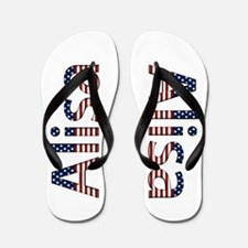 Alisa Stars and Stripes Flip Flops