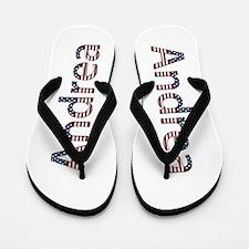 Andrea Stars and Stripes Flip Flops