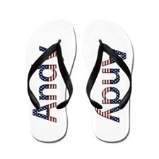 Andy Stars and Stripes Flip Flops