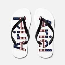 Ariel Stars and Stripes Flip Flops