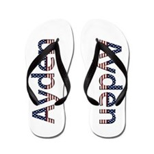 Ayden Stars and Stripes Flip Flops