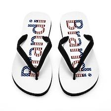Brandi Stars and Stripes Flip Flops