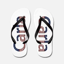 Carla Stars and Stripes Flip Flops