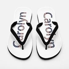 Carolyn Stars and Stripes Flip Flops