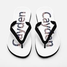 Cayden Stars and Stripes Flip Flops