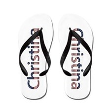 Christina Stars and Stripes Flip Flops
