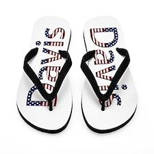 Davis Stars and Stripes Flip Flops