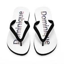 Dominique Stars and Stripes Flip Flops