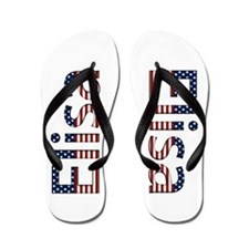 Elisa Stars and Stripes Flip Flops