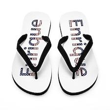 Enrique Stars and Stripes Flip Flops