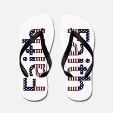 Faith Stars and Stripes Flip Flops