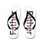 Father Stars and Stripes Flip Flops