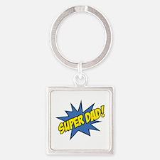 Super Dad! Square Keychain