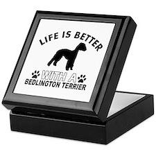 Bedlington Terrier vector designs Keepsake Box