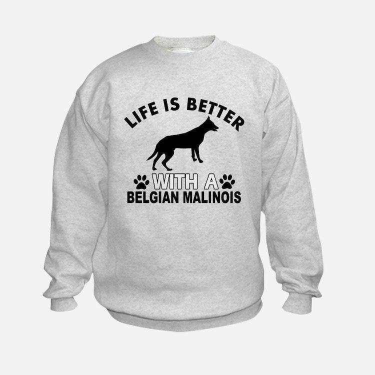 Belgian Malinois vector designs Sweatshirt