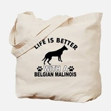Belgian Malinois vector designs Tote Bag