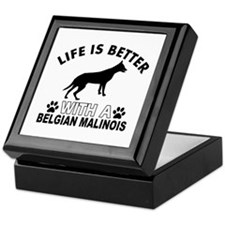 Belgian Malinois vector designs Keepsake Box