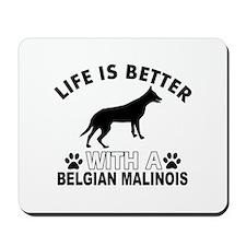 Belgian Malinois vector designs Mousepad