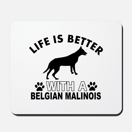 Belgian Malinois vector designs Mousepad