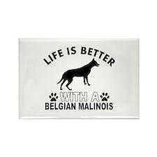 Belgian Malinois vector designs Rectangle Magnet