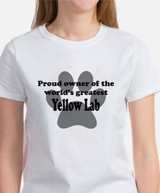 Proud Owner Of The Worlds Greatest Yellow Lab T-Sh