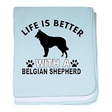 Belgian Shepherd vector designs baby blanket
