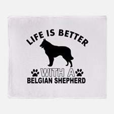 Belgian Shepherd vector designs Throw Blanket