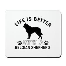 Belgian Shepherd vector designs Mousepad