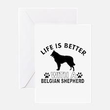 Belgian Shepherd vector designs Greeting Card