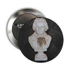 "BeethovenonBlackCircle 2.25"" Button (10 pack)"