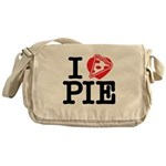 I Heart Pizza Pie Messenger Bag