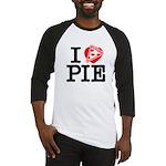 I Heart Pizza Pie Baseball Jersey