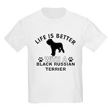 Black Russian Terrier vector designs T-Shirt