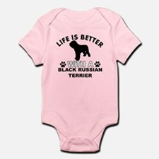 Black Russian Terrier vector designs Infant Bodysu