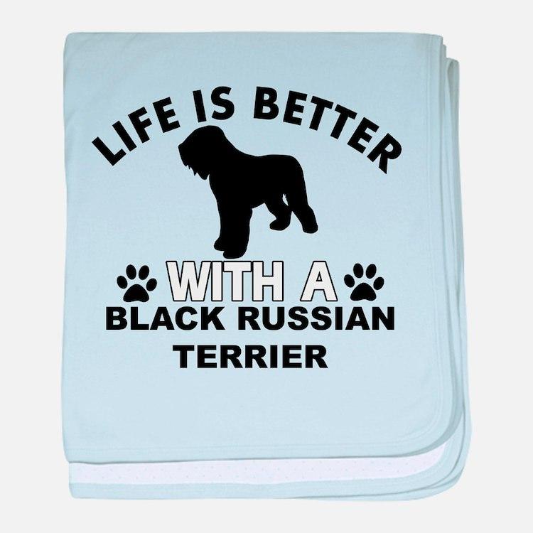 Black Russian Terrier vector designs baby blanket