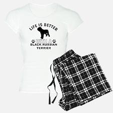 Black Russian Terrier vector designs Pajamas