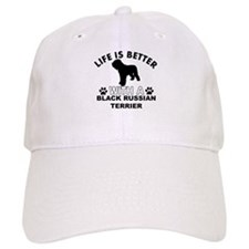 Black Russian Terrier vector designs Baseball Cap