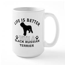 Black Russian Terrier vector designs Mug